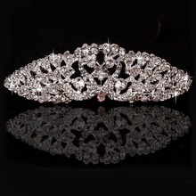 New Arrive Bridal Crystal Rhinestone Comb Tiara Headband Crown Wedding Prom Pageant Jewelry for Women 2017