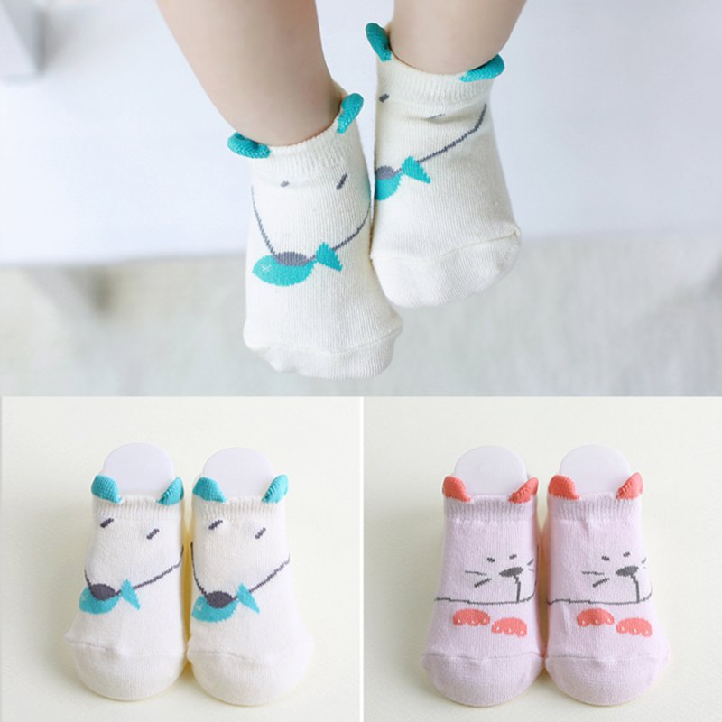Soft Infant Unises Kids Newborn Mouse Printed Baby Ankle Socks 0-4Y New