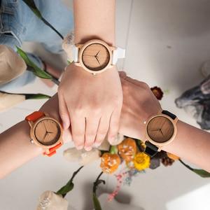 Image 1 - BOBO BIRD Women Watch Bamboo Wood Timepieces Silicone Straps relojes mujer marca de lujo Great Wrist Watch for Girls Accept Logo