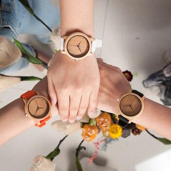 BOBO BIRD Women Watch Bamboo Wood Timepieces Silicone Straps relojes mujer marca de lujo Great Wrist Watch for Girls Accept Logo Women's Watches