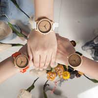 BOBO pájaro mujer reloj de madera de bambú Timepieces silicona correas relojes mujer marca de lujo gran reloj de pulsera para niñas aceptar logotipo de