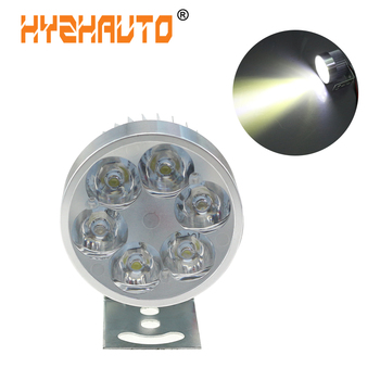 HYZHAUTO Motorcycle Headlight Fog Light Led e-Bike Scooter ATV Motor Headlight Lamp Bulb DC 12-90V 6500K White 10W 800LM 1PCS image