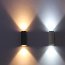IP65 Открытый водонепроницаемый кнехт Светодиодные стены света, балкон настенный светильник led 6 Вт, теплый белый, холодный белый