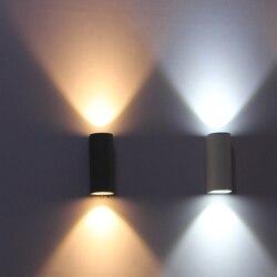 Lámpara de pared exterior, iluminación de pared exterior impermeable IP65, luz de pared Led, lámpara de pared Led de balcón 6W