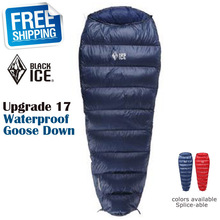 Blackice Upgrade G200 Mummy No Cap Splicing Single Ultra Light Waterproof Goose Down Summer Sleeping Bag with Carrying Bag