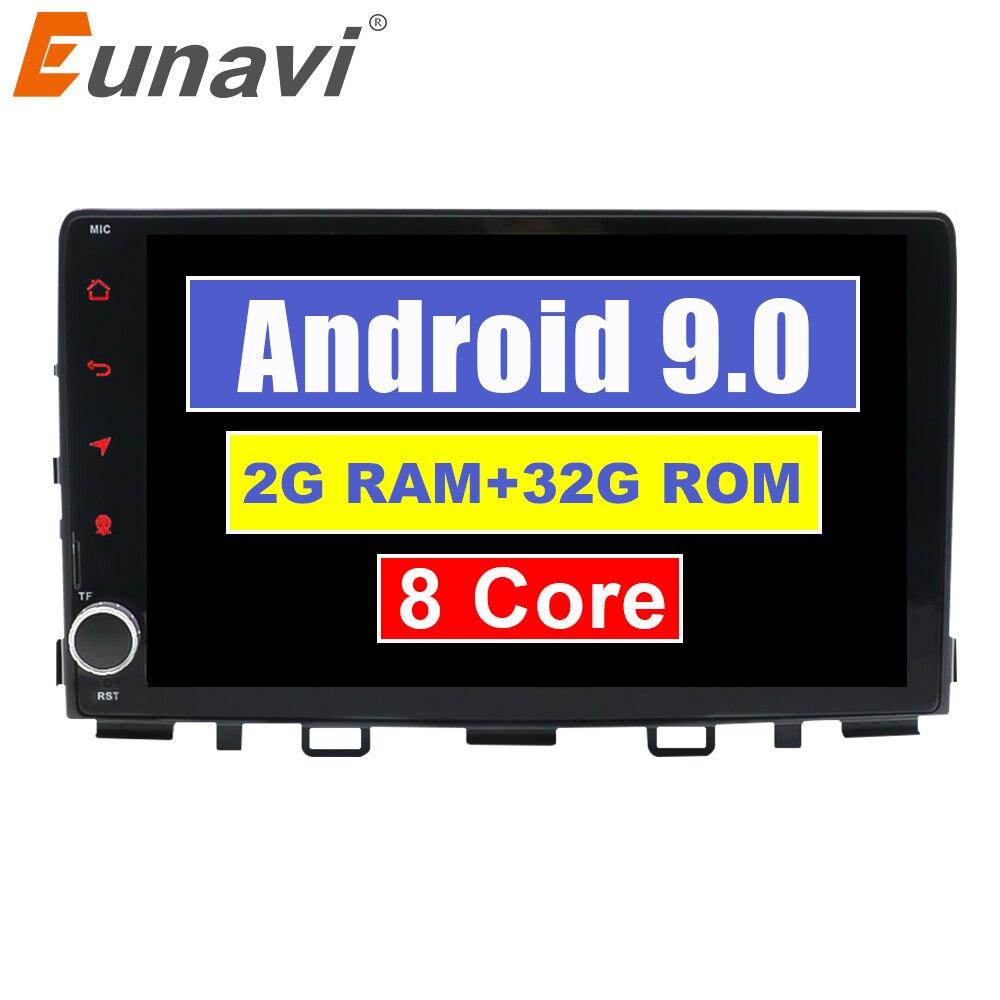 Eunavi 2G + 32G Octa 8 core android 9.0 dvd de voiture pour RIO 2017 2018 multimédia autoradio gps navi T8 autoradio