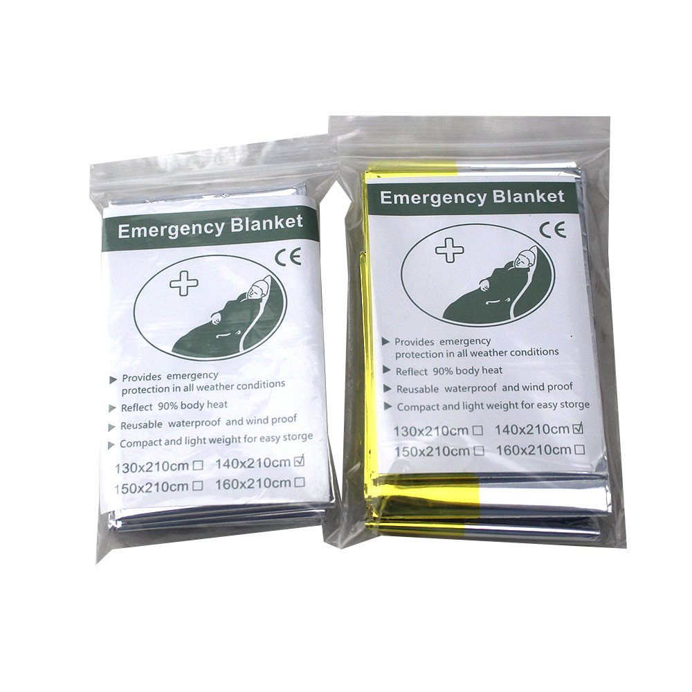 Wholesale 300pcs lot Waterproof outdoor Emergency Survival Foil Thermal First Aid Rescue Blanket
