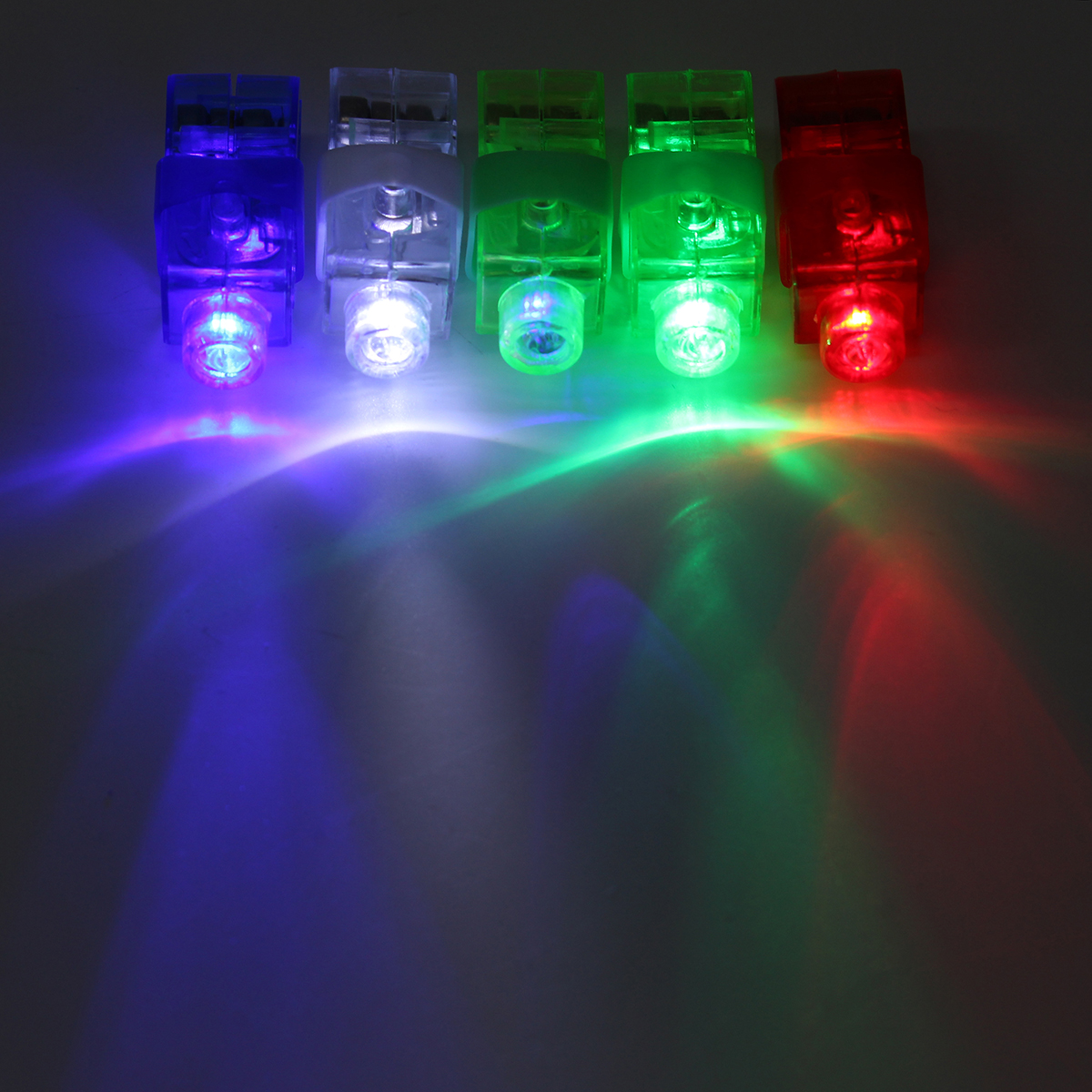 jiguoor red green blue white rgb luminous finger indicator light colorful led night lamp holiday. Black Bedroom Furniture Sets. Home Design Ideas