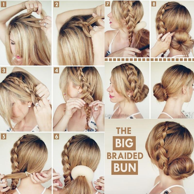Hair Bun Maker Donut Magic Foam Sponge Easy Big Ring Women's Scarf Buckles