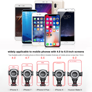 Image 5 - Baseus Gravity Car Phone Holder For iphone 11 Pro X 8 Universal Phone Holder Car Mount For Samsung Android Car Phone Stand