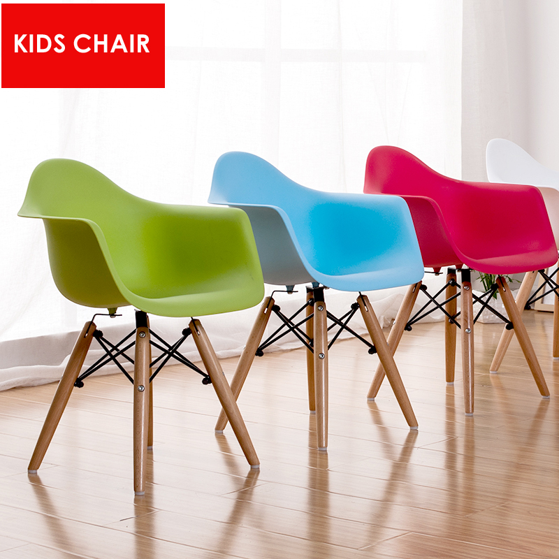 FREE SHIPPING Kids Chair Children Wooden Base Baby Arm Wood Leg Chair Kids  Modern Design Popular Fashion Armchair Dining Chair In Children Chairs From  ...