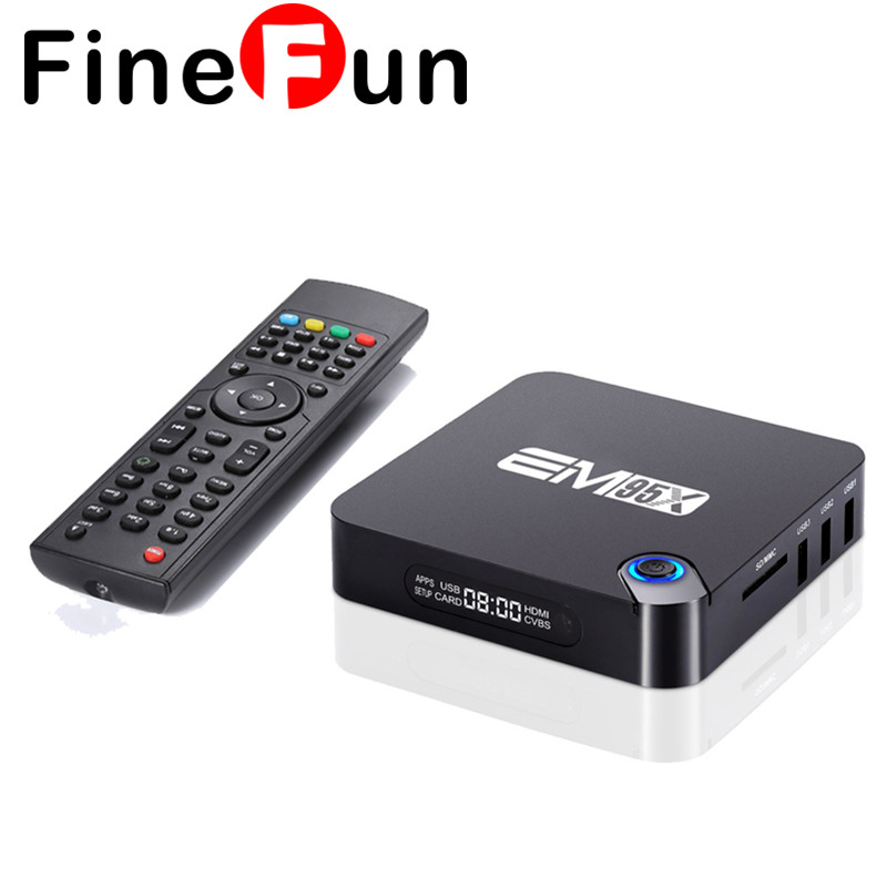 FineFun 2G/16G Android 6.0 TV Box Amlogic S905X Quad-Core Kodi 16.1 Full loaded 2.4G WiFi 4K Media Players Smart Set-top Box original m8s android tv box amlogic s812 quad core gpu mali450 2g 8g kodi xbmc media player 2 4g 5g wifi with air mouse keyboard