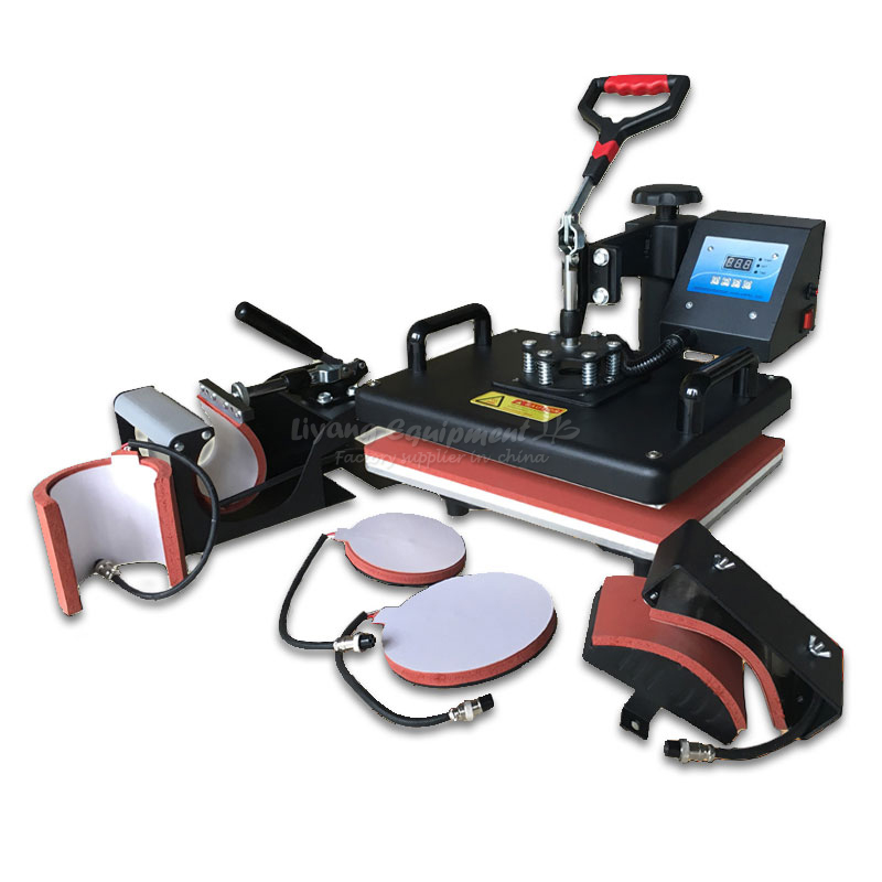 6 in 1 multi-function heat press machine Heat transfer machine phone Case cup T-shirt baking cup machine E10068 1pc 23x30cm heat transfer machine laser cutting t shirt hot press small heat press machine hp230a