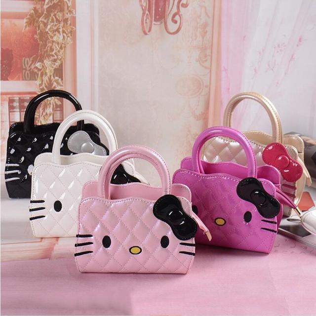 dd3979c726 New designers mini cute bag children hello kitty Bowknot handbag kids tote  girls Shoulder Bag mini bag wholesale