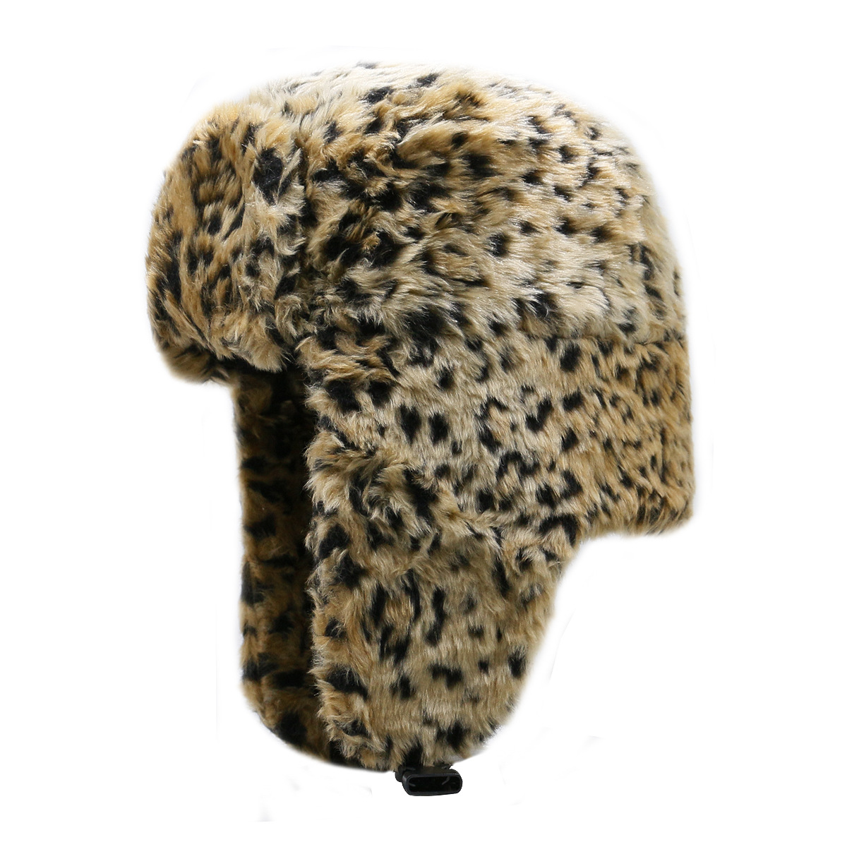 Men's Women's Ear Protection Bomber Hat Male Thicker Windproof Hats Fashion Leopard Warm Winter Resist Snow Russian Cap(China)