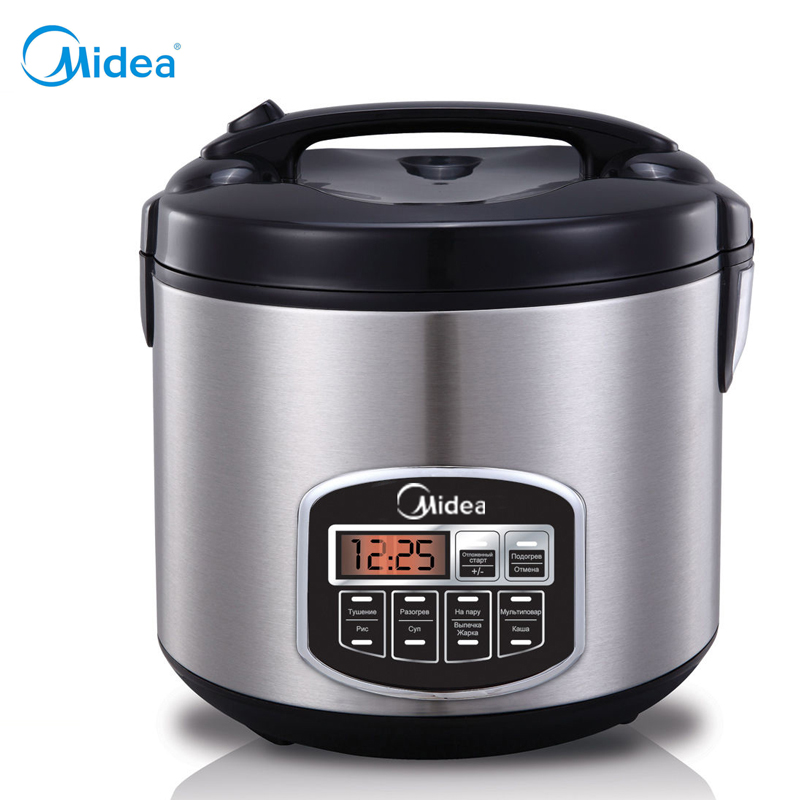 ФОТО Best price Multivarka Midea rice cooker 220V Black electric lunch box multi cooker electric kitchen cooking appliances EU plug