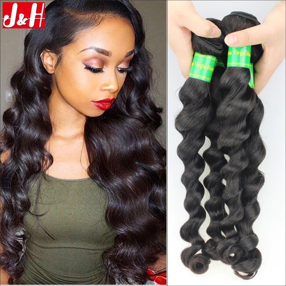 Brazilian Virgin Hair Loose Wave Human Hair Extensions Cheap 7a