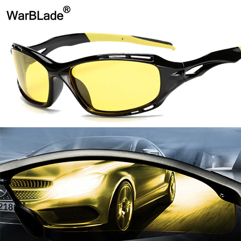 WarBLade Men Anti Glare Glasses Polarizer Sunglasses Night Driving For Safety Driving Sunglasses Yellow Lens Night Vision Goggle