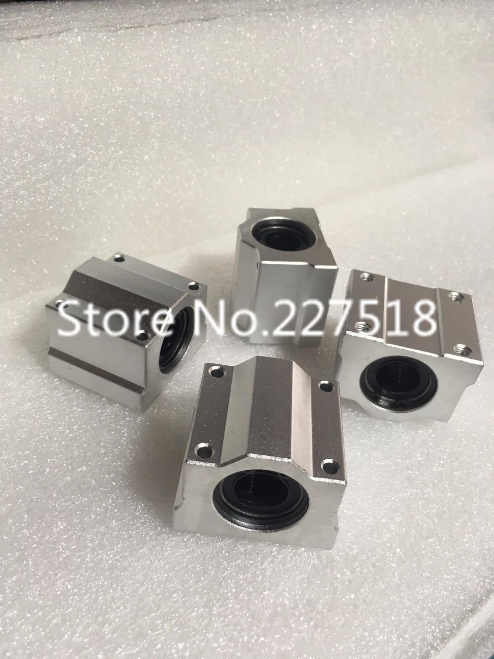 все цены на  1pcs SCS35UU 35mm linear guide Linear axis ball bearing block with LM35UU bush, pillow block linear unit for CNC part  онлайн