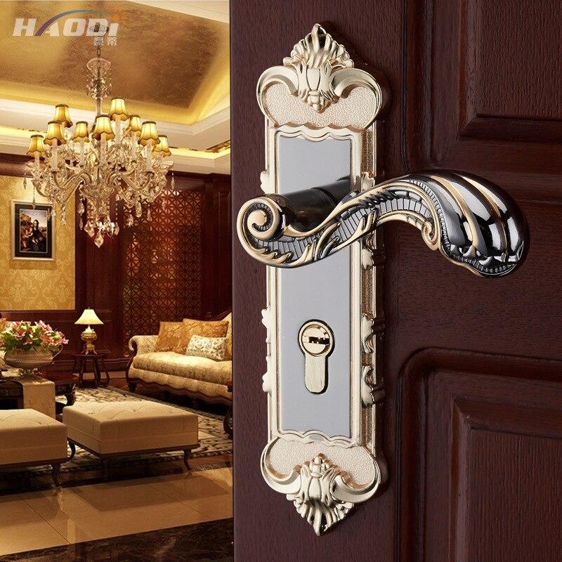 New Model Door Locks Aluminum Material Lock Interior Door Bathroom Door Building Hardware