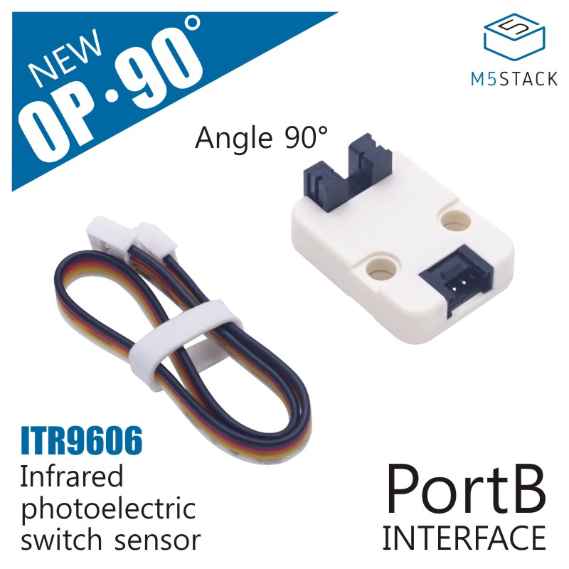 M5Stack Official Mini Angle 90° Infrared Refletive Unit ITR9606 Photoelectric Switch Sensor