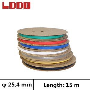 LDDQ 15m Heat shrinkable tubing 3:1 adhesive with glue Dia 25.4mm Wire wrap Cable sleeve Seven color Shrink tube termo retractil