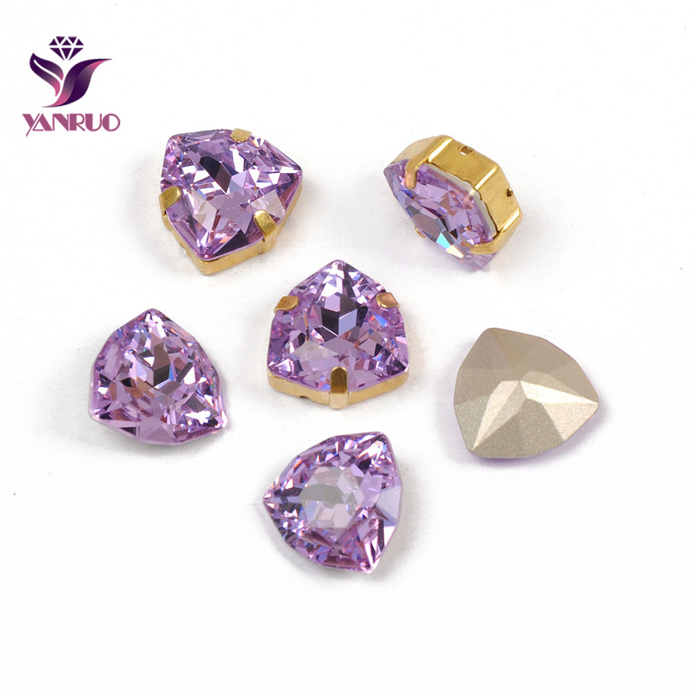 YANRUO 4706 Trilliant Violet Purple Sewing Rhinestones Glass Diamond Wedding Dress Jewerly Applications