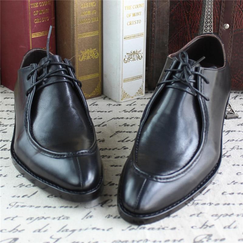 Genuino Welted Negro Cuero Formal Goodyear Lujo De Mano Boda Maloneda Zapatos Con Los Hombres Medida Hecho Fiesta marrón A Para Caro Hxq1Zp18