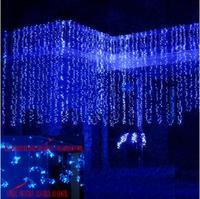 Guirlanda Ano novo LED Luzes De Natal Ao Ar Livre 4x4 m Decoração de Natal Luzes LED String Cortina Cristams Luces de Navidad