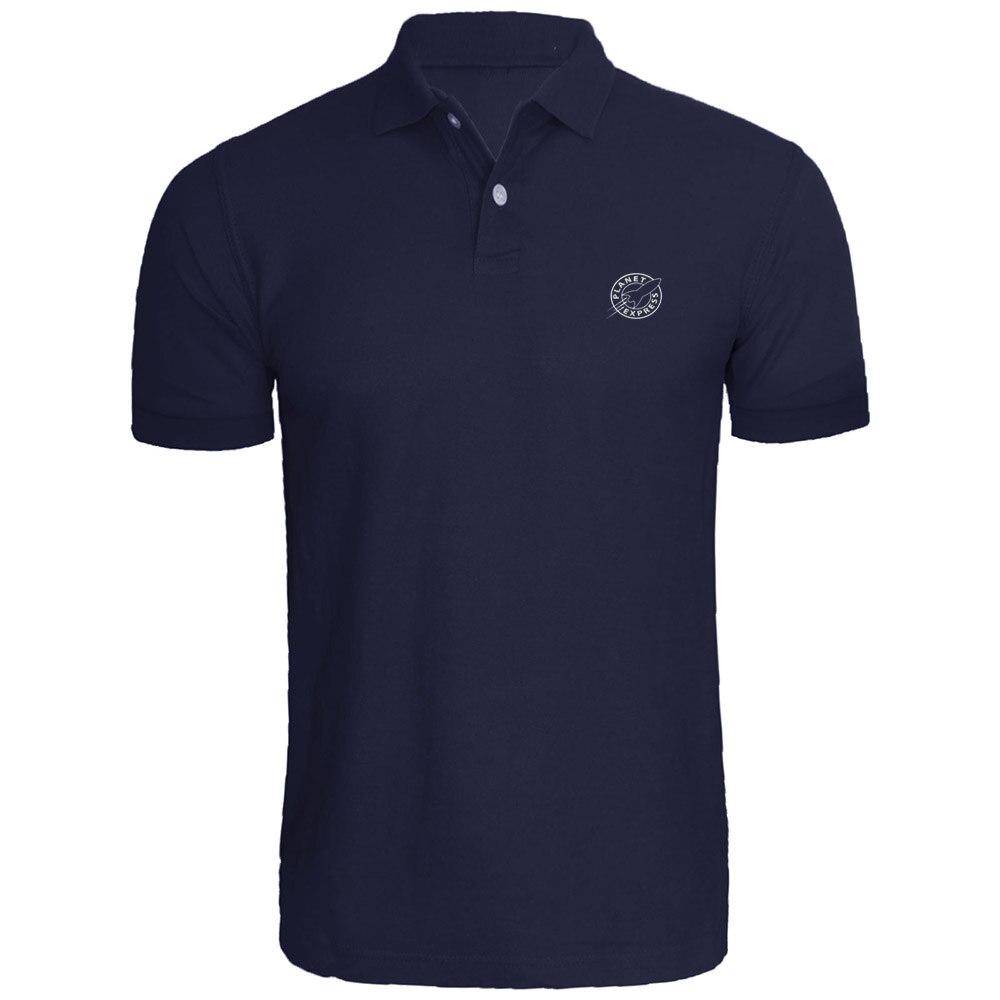 Camisas Polo bordadas planeta exprés Futurama para hombre