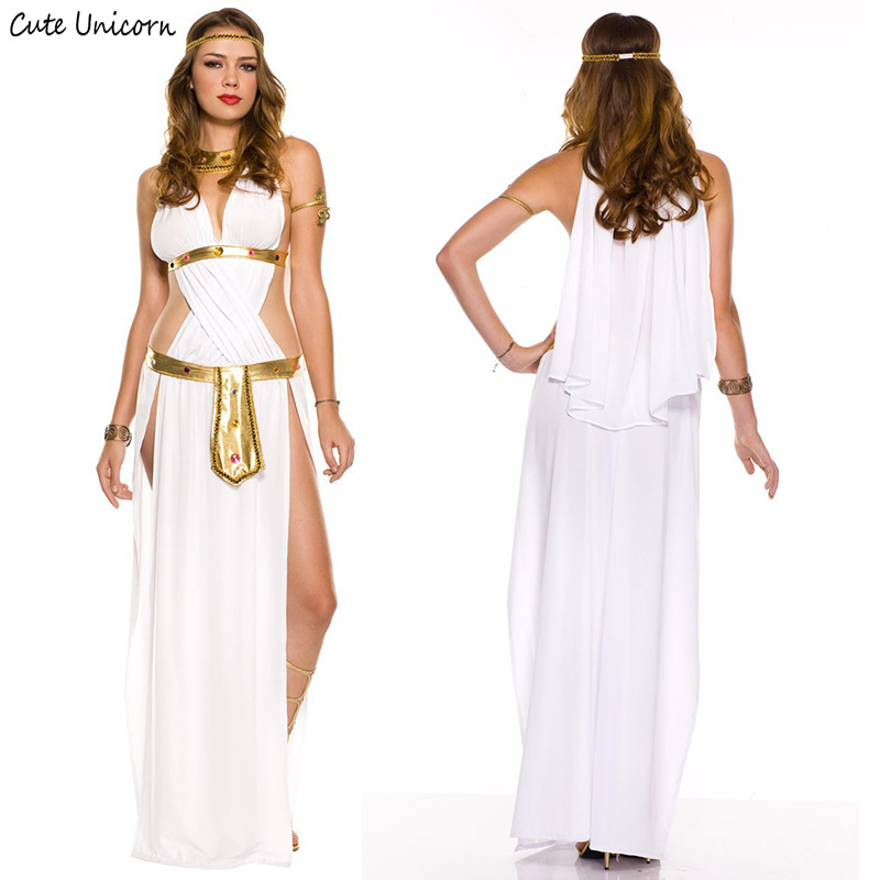 4f70f3fde2 Indian Cosplay Costume Greek god of love goddess Venus party dresses Arab  queen Cleopatra Costumes Sexy