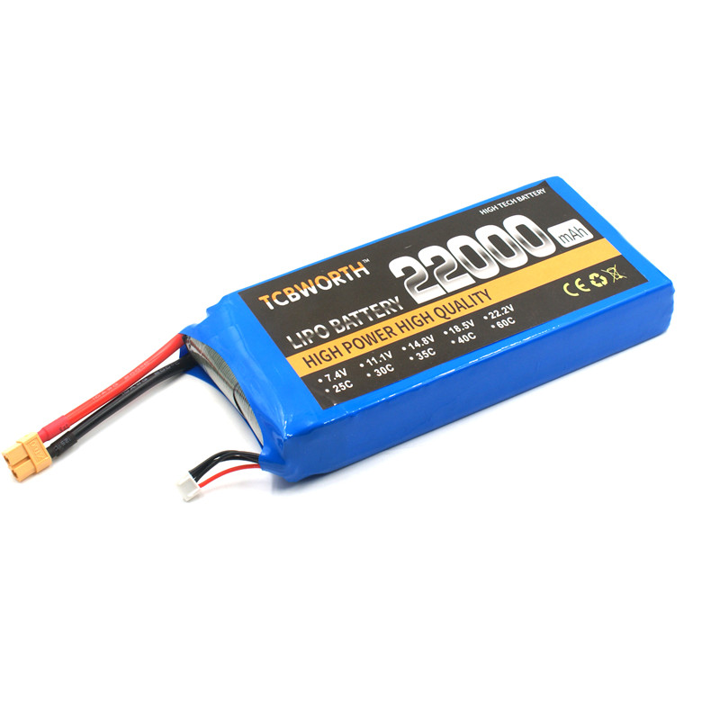 TCBWORTH RC LiPo Battery 4S 14.8V 22000mAh 25C FOR RC Airplane Drone Quadrotor Helicopter Car Drone Boat Batteria AKKU mos rc lipo battery 22 2v 12000mah 25c 6s for airplane drone quadrotor car boat factory outlet free shipping