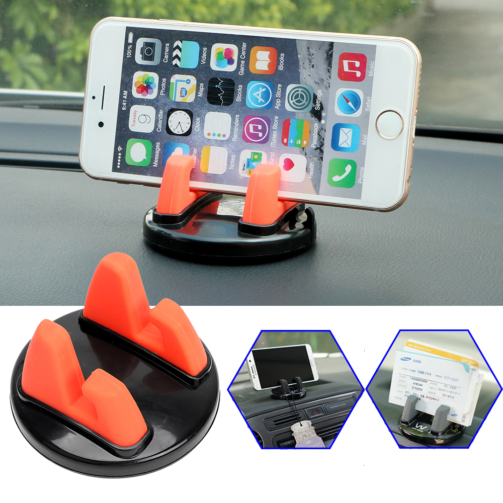 Car Ornament Universal Phone Holder 360 Degree Rotation PC + Silicone C