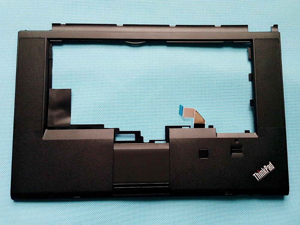 New/orig Lenovo ThinkPad T530 T530i W530 Keyboard Bezel Palmrest Upper Case With Touchpad + Fingerprint 04W6733 04W6820 04X4611 new russian ru laptop keyboard for lenovo ideapad u530 palmrest keyboard bezel cover touchpad with backlit 90204072 black