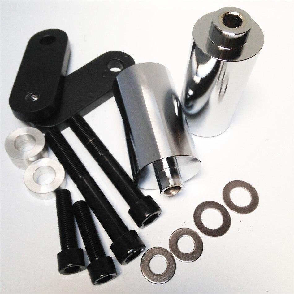 100% Waar Aftermarket Gratis Verzending Motorfiets Onderdelen Geen Cut Frame Slider Protector Voor Honda 2004 2005 Cbr 1000rr 1000 Rr Chrome