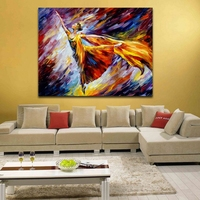 Gold Wave Black And White Abstract Painting Printed On Canvas Canvas Print Bedroom Decoration