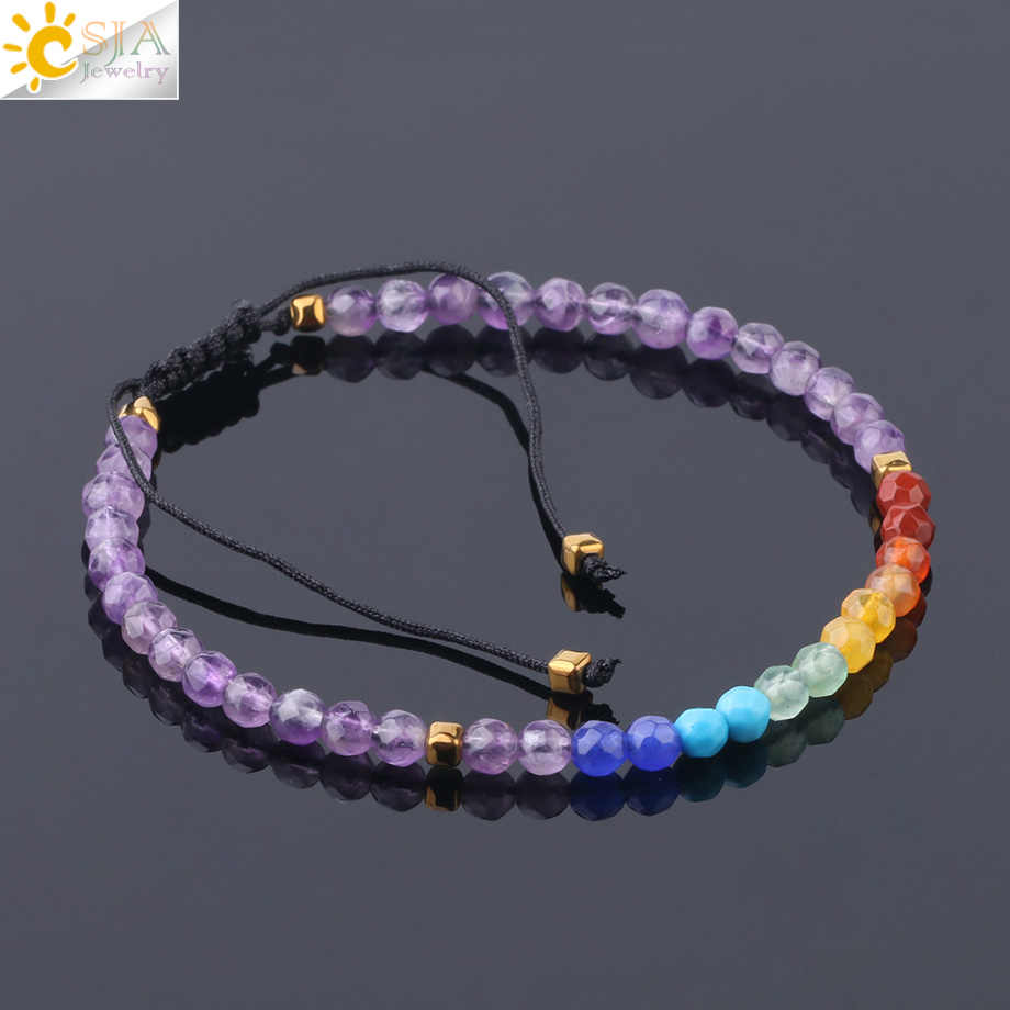 Beads Bracelets 4mm Natural Stone