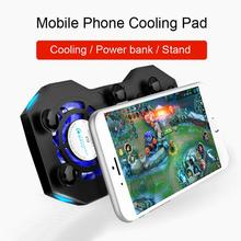 Mobile Phone Cooling Pad Mute Gaming Cooler Radiator Fans with Ring Holder Stand Portable Rechargeable Power Bank