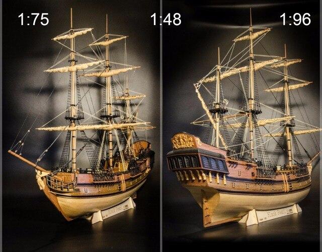 Schaal 1 48 1 75 1 96 Zwarte Parel Model Schip Kit Hout Zeilschip
