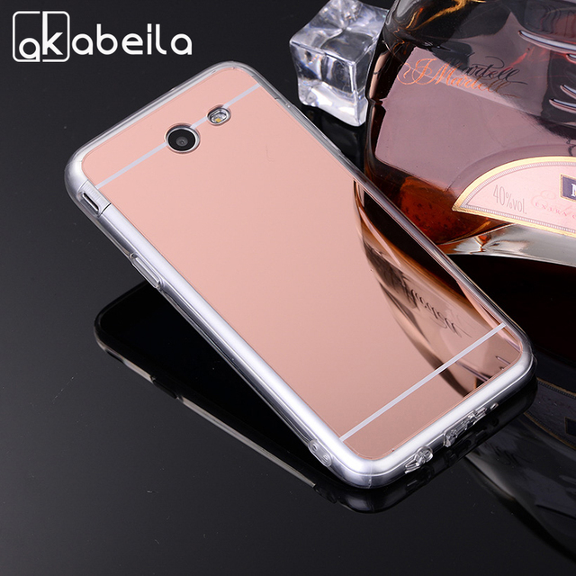 US $1 87 |AKABEILA Cases For Samsung Galaxy J3 Prime J3 2017 US Amp Prime 2  Cover Cell Phone Bags Housing Plating Mirror TPU Silicone Skin-in Fitted