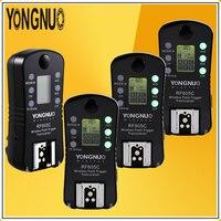 YONGNUO Optimal Kit 4*RF605C RF 605C RF 605C 2.4GWireless Flash SpeedliteTrigger with LCD 603 Upgrade Version For Canon Cameras