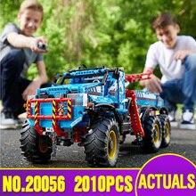 Lepin 20056 Série Technic O Máximo de Todo O Terreno 6X6 Conjunto de Blocos de Construção Tijolos Brinquedos Modelo de Caminhão de Controle Remoto legoing 42070