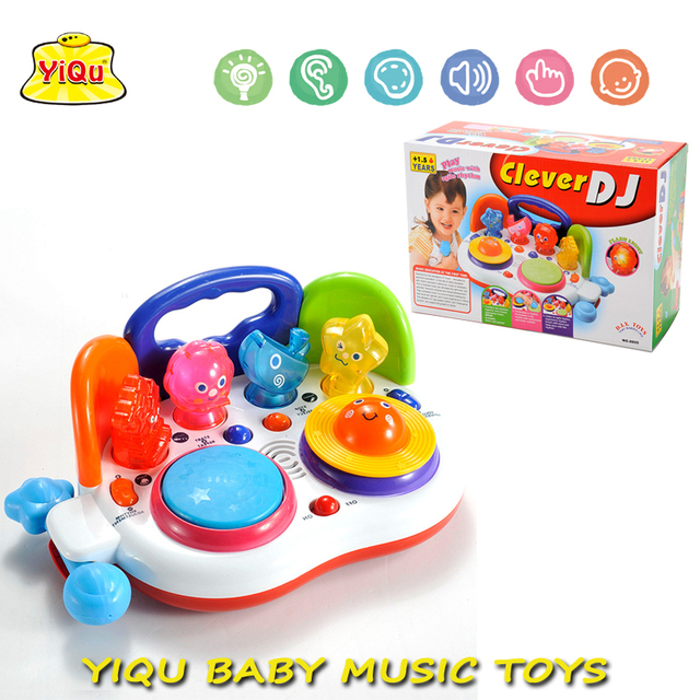 Teclado de Piano Brinquedos Educativos Iniciais Do Bebê Dos Desenhos Animados quente Jogador DJ Brinquedos Instrumento Musical Brinquedos YQ88105