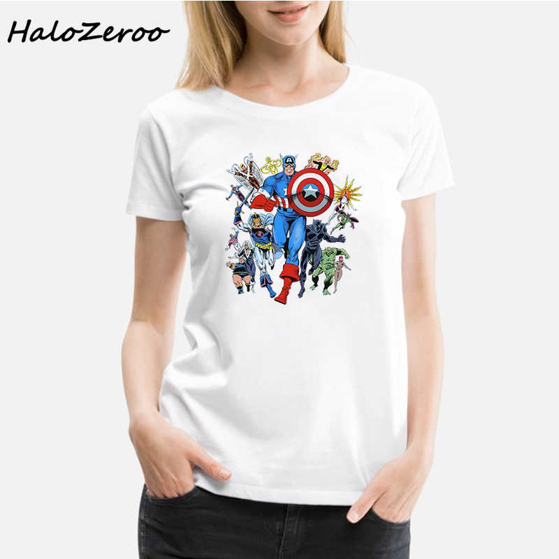 Avengers Ghost Rider Falcon Thor Black Widow District Made Ladies Printed Vogue T Shirt Women Streetwear Aesthetic Clothes Tops