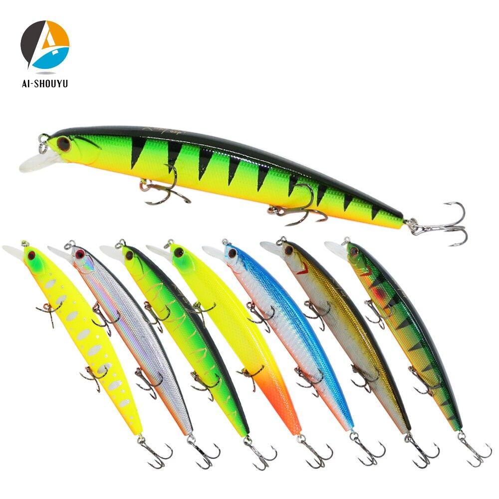 AI-SHOUYU Fishing Lure Hard Bait 130mm 20g Minnow Crankbait Wobblers Peche Bass Artificial Baits Pike Carp Lures Swimbait