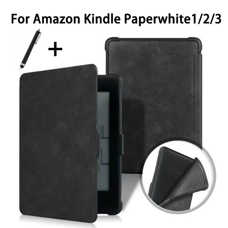 Smart Case For Amazon Kindle Paperwhite 1/2/3 Shell PU Leather Cover For Kindle Paperwhite Intelligent Magnetic Auto Sleep/Wake kindle paperwhite 1 2 3 case e book cover tpu rear shell pu leather smart case for amazon kindle paperwhite 3 cover 6 stylus
