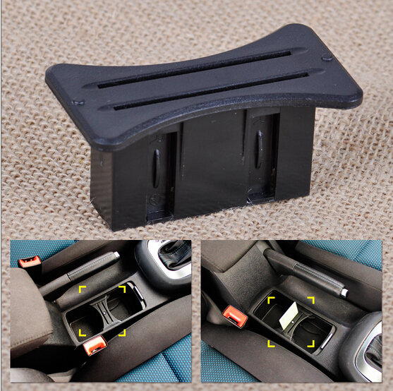 NEW Car Slot Centre Cup Card Holder Coin Console For Volkswagen VW MK6 Golf GTI R20 2008-2012 8z1214 6pcs set car interior 3d dashboard panel console switch sticker for vw golf jetta mk6 gti