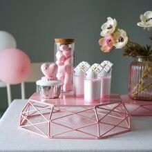 Геометрический торт стенд макароны цвет Инструменты для торта десерт украшение стола для вечеринки фрукты домашняя корзина для хранения стойки