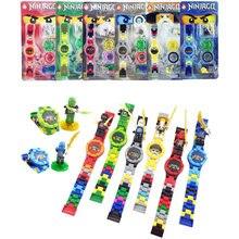 Совместимость с друзьями часы LegoINGLY NinjagoINGLY строительные блоки кирпичи с коробкой детские часы игрушки для Детский подарок
