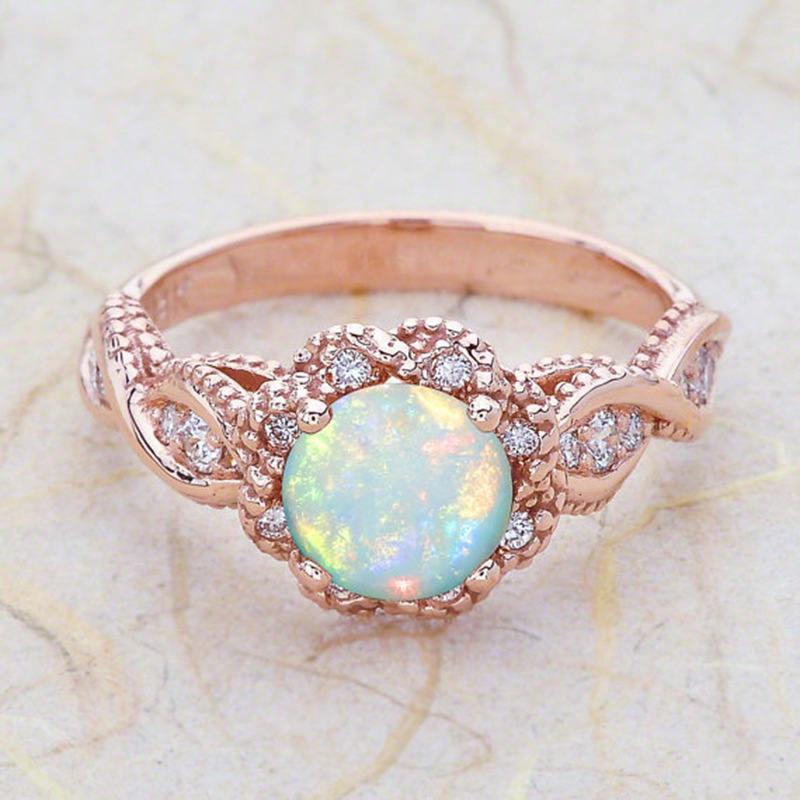 Aliexpress.com : Buy 2018 New Rose Gold Opal Rings For